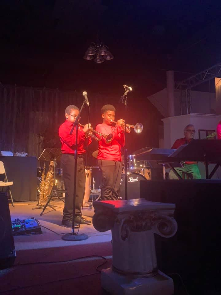Trumpet students from Doors Open Jazz