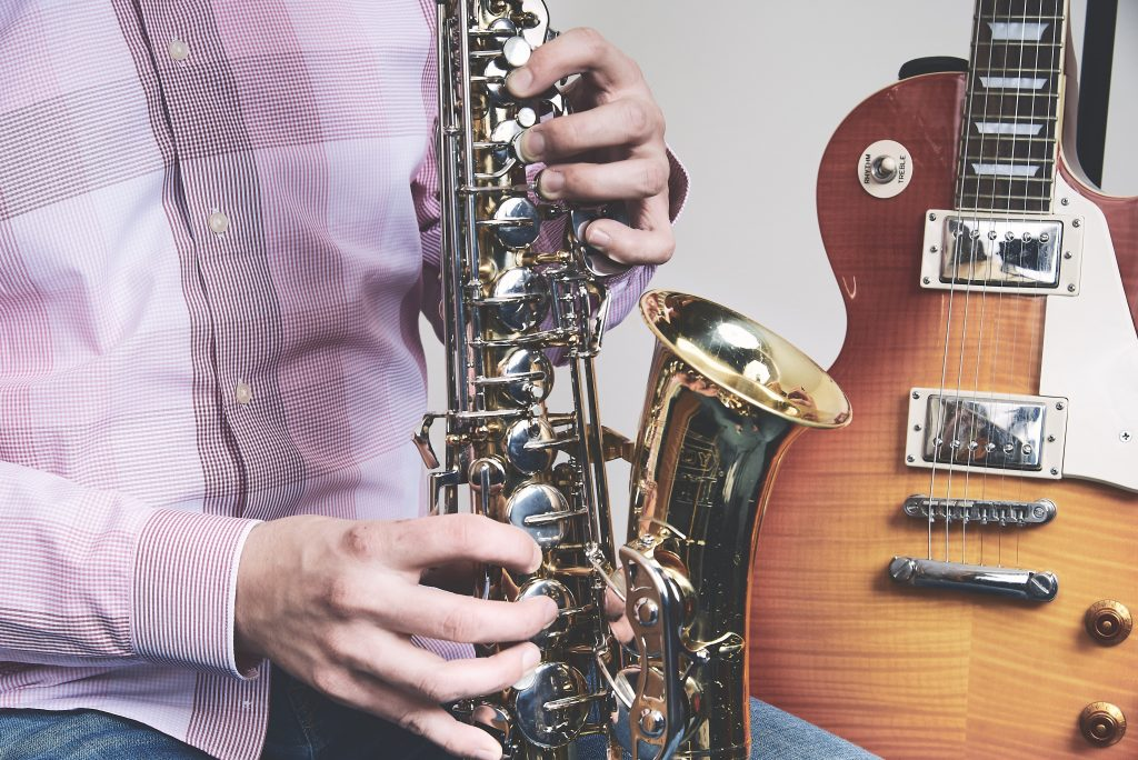 saxophone classes with doors open jazz free