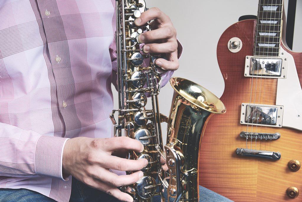 saxophone classes with doors open jazz free