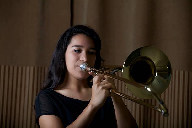 high school trombone player doors open jazz